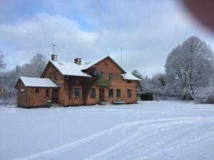 Solberga station vintertid 2018